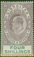 Gibraltar 1903 4s Dull Violet & Vert SG53 Fin & Frais Légèrement MTD Mint (8)