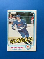 Peter Stastny ROOKIE O-Pee-Chee NHL Hockey Card 1981-82 #269  Quebec Nordiques