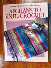 Vintage 1986 Better Homes & Gardens AFGHANS TO KNIT & CROCHET Book #6-bk