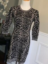 French Connection sweater dress zebra print size 8