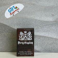 Dirty English by Juicy Couture 1.7 OZ Eau De Toilette For Men New No Cello