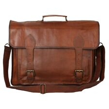 18x13 Office Work Leather Laptop Briefcase Shoulder Carry Quick Carry Top handle