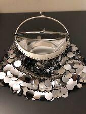 Nancy Bacich Silver Sequin Bag