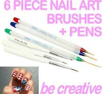 6 Piece Acrylic Gel Nail Art Set for - Drawing Pens Painting Striping Brush Set