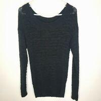 Victoria Secret Black Knit Sweater SZ M