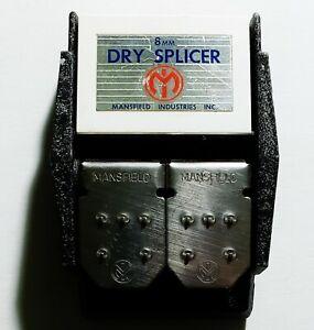 Vintage Mansfield Industries 8mm Butt Film Splicer Heavy Metal Editing Tool