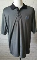 Cutter & Buck Men's Black Stripped Indianapolis Colts Logo Polo Shirt Size XL