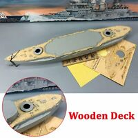 Wooden Deck for 1/350 Trumpeter 05354 Schleswig – Holstein Battleship 1935 Model