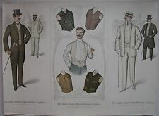 1904 ITALIAN FRENCH AMERICAN MEN'S FASHION moda maschile Raffignone Torino