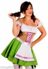 Ladies/Girls German Beer Wench Oktoberfest Drindl Costume Size 12