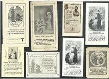 8 Estampas antiguas San Francisco de Asis andachtsbild santino holy card santini