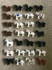 LEGO LOT OF 28 HORSES MINIFIGURES HORSE ANIMAL CITY