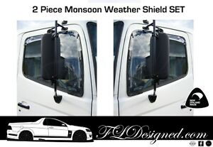 2003-2019+ HINO 500 & 700 SERIES Monsoon Weather Shields /Rain guards 2pcs
