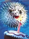 """""""Happy Birthday!"""" AVANTI Funny Birthday Card BLOWFISH Blowing Out Candle photo"""