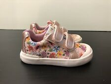 Geox Respira Shoes Sz 7US/23EU Infant Girl Shoes Easy To Put On Pink/floral