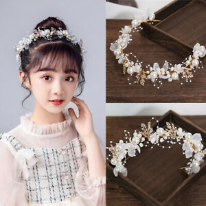 Women Pearl Crystal Headdress Headband Wedding Bridal Fashion Hair Accessory