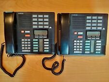 Lot of 2 Nortel NORSTAR NT8B20XX M7310 BLACK PHONES