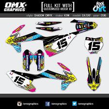 KTM SX 125 150 SXF 250 350 450 stickers decals graphics kit 2016 SH CMYK