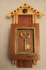 Vintage Key Keeper Wall Hanging Wooden Box Very Cool!