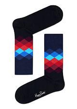 Happy Socks Faded Diamond FD01-069 Black Blue and Red M/L