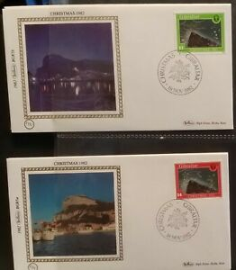 1982 Gibraltar Xmas Christmas FDC Benham SIlks BGR5ab
