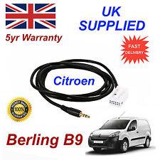 Citroen Berlingo B9 aux 3.5mm Cable De Audio De Entrada Año Modelo 2005