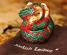 JUDITH LEIBER SWAROVSKI CRYSTAL SEE HEAR SPEAK NO EVIL MONKEY PILL BOX TRINKET