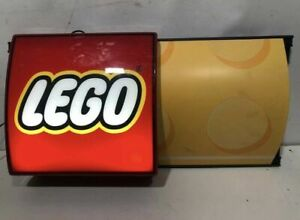 """LEGO STORE OFFICIAL DISPLAY LIGHT SIGN  RETAILER RARE WORKING 31,5"""""""