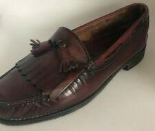 G.H. Bass & Co. Weejuns Men's 9 1/2   Burgundy Leather Tassel Loafer Dress Shoe