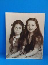 Vintage 1946 Children Girls Studio Sepia Photo The Popular Dry Goods El Paso
