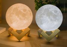 Kids 3D Magical Moon Ball LED Night Light Base Lamp Valentines Gift Touch Sensor