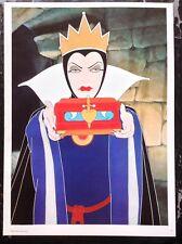 Walt Disney PRINT Rare Vintage 1977 Snow White Wicked Queen Cartoon Art Cinema