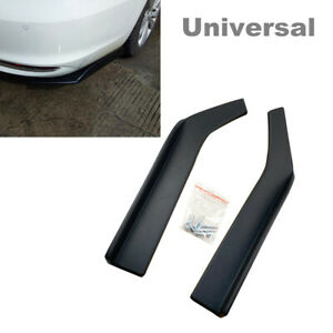 2PCS 62cm Car SUV Bumper Spoiler Anti-crash Rear Lip Splitter Diffuser Universal