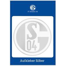 Aufkleber FC Schalke 04 Blau und Weiß Silber Weiß Gold Sticker Autoaufkleber S04