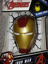 Marvel Avengers IronMan Mask 3D Deco Night Light 110v New