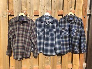 Pendleton Wool Shirt Lot 3 Vintage Western Country