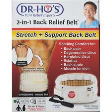 DR-HO'S 2-IN-1 BACK RELIEF BELT SIZE A FITS WAIST SIZE 63cm - 105cm Brand New