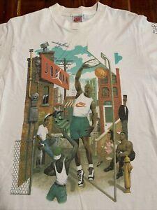 Nike Michael Jordan Hoop Heroes by Mark Ryden T Shirt Vintage USA Made Sm Med