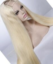 100% Virgin Brazillian Hair Platinum Blonde wig U part Style human hair 22