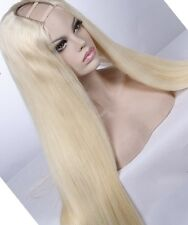 100% Virgin Brazillian Hair Platinum Blonde wig U part Style human hair 14