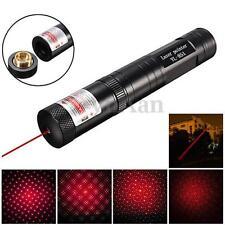Waterproof 8000M Red Laser Pointer Pen 650nm 5mw Light Beam Star Cap Lazer Pen