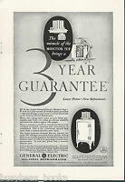 1931 General Electric Refrigerator advertisement, MONITOR-TOP fridge, GE