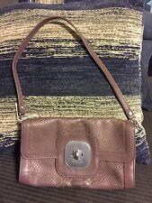 NWOT LONGCHAMP TEXTURED LEATHER TURNLOCK BAGUETTE PURSE HANDBAG SHOULDER BAG