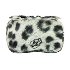 Thomas Wylde Snow Leopard Pattern Leather Small Makeup Bag