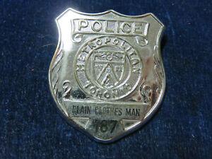 "Rare Orig Vintage Obsolete Badge ""Toronto - Plain Clothes Man - 187"""