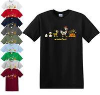 OVOLUTION FUNNY T-SHIRT/Chicken/Chick/Evolution/Joke/Party/Fun/Gift/Tshirt/Top