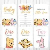 Baby Milestone Cards, 4x6 Photo Prop, 44 Cards, Winnie the Pooh