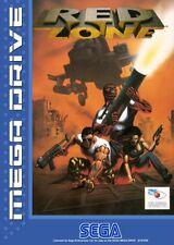 Sega Mega Drive juego-red Zone con embalaje original
