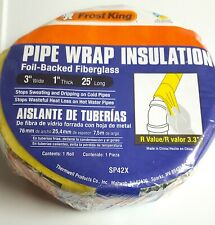"NASATEK Foam Core Pipe Duct Wrap Insulation Weatherization Energy Kit 6/"" x 100/'"
