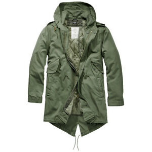 Brandit M51 US Parka Urban Lining Fishtail Mens Cotton Casual Outdoor Olive